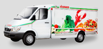 Eismann's refrigerated truck