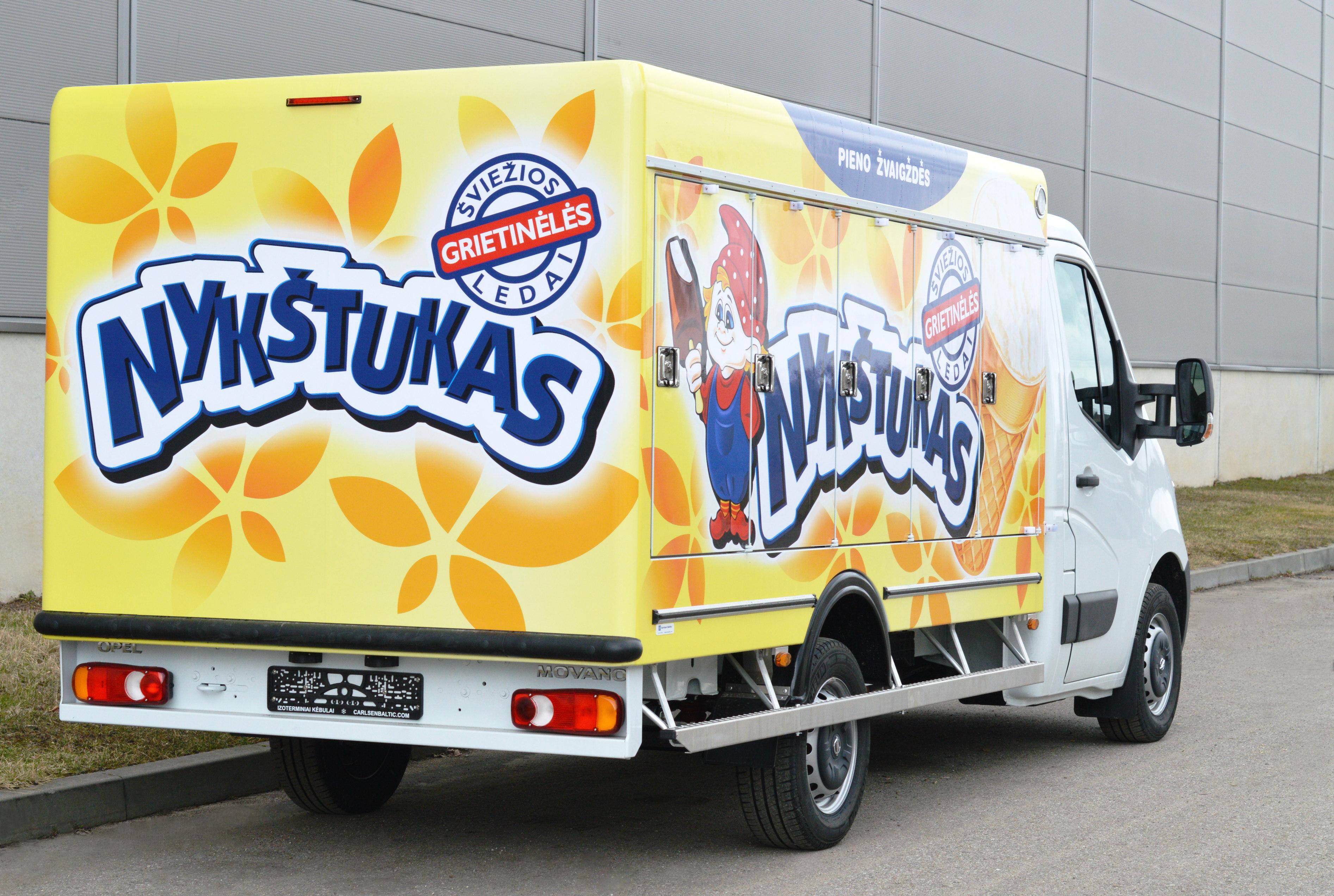 Фургон-мороженица на шасси Opel Movano