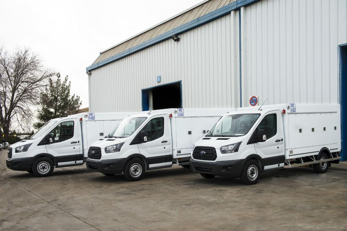 Kühlkoffer auf Ford Transit Fahrgestellen