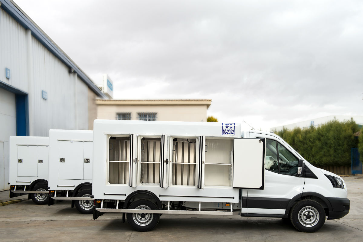 Ford Transit refrigerated box truck