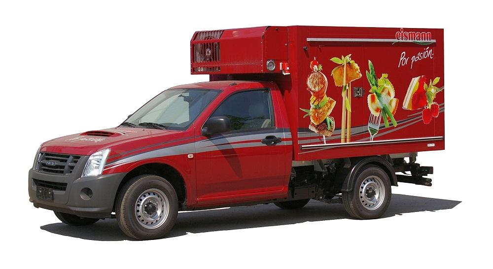 Изотермический фургон на шасси Isuzu D-Max для перевозки продуктов глубокой заморозки или мороженица