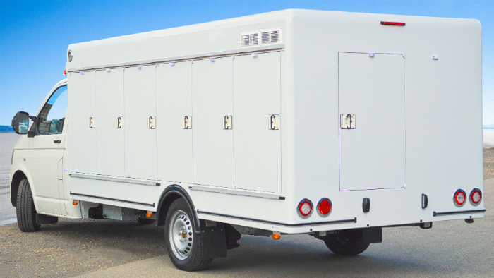 Multitemperatur-Kühlkoffer auf Volkswagen Transporter