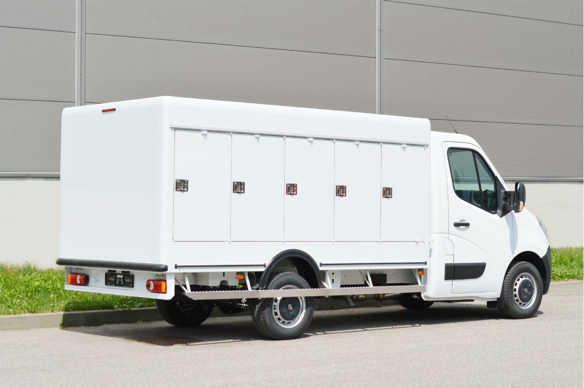Kühlkoffer auf Opel Movano Fahrgestellen
