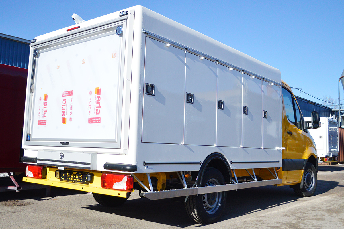 Sprinter refrigerated van for ice cream delivery