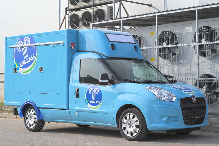 Refrigerated truck body on Fiat Doblo chassis
