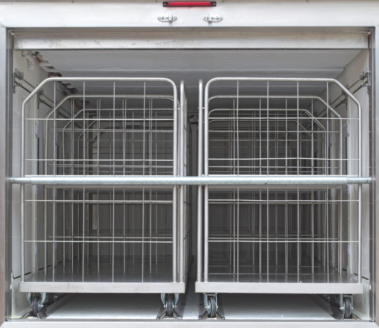 Trolleys for frozen or chilled goods