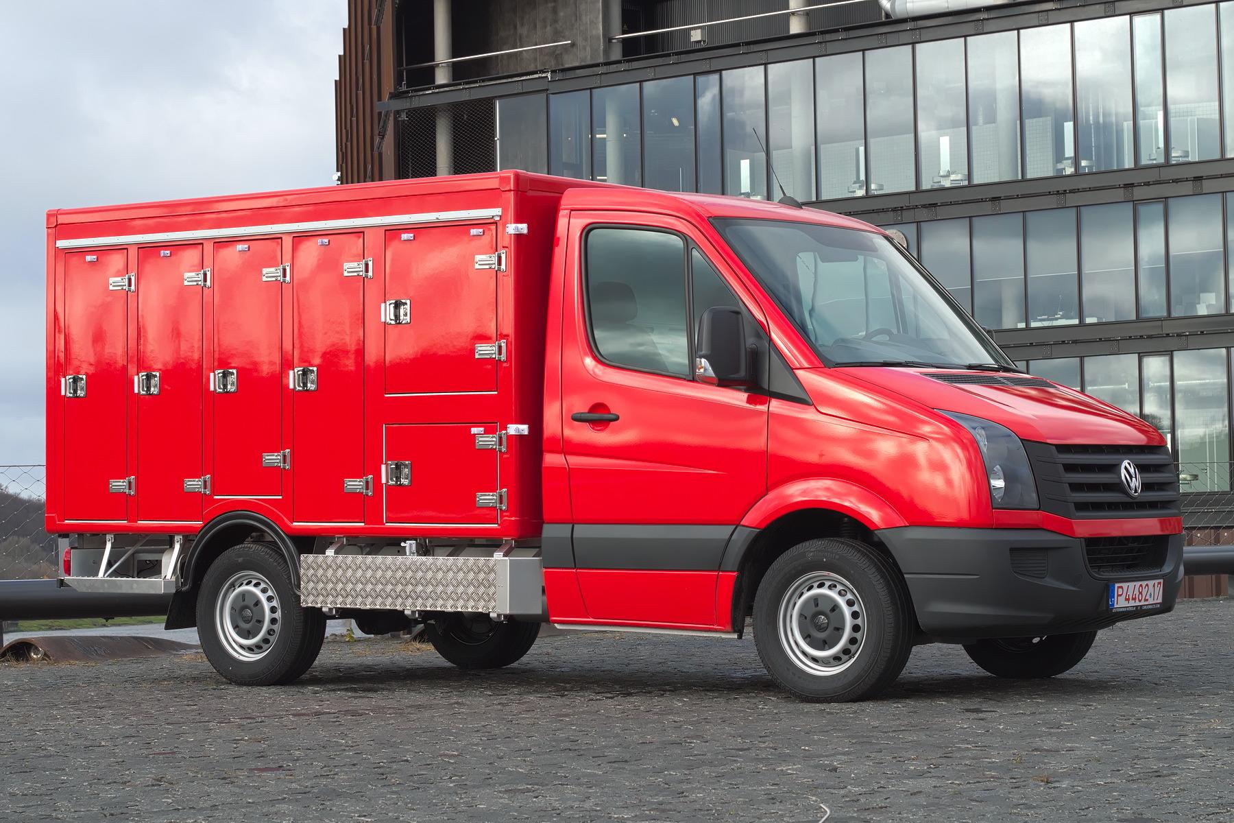 Multitemperatur-Kühlkoffer auf Volkswagen Crafter