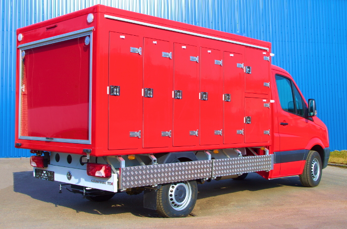 Refrigerated truck body on Volkswagen Crafter