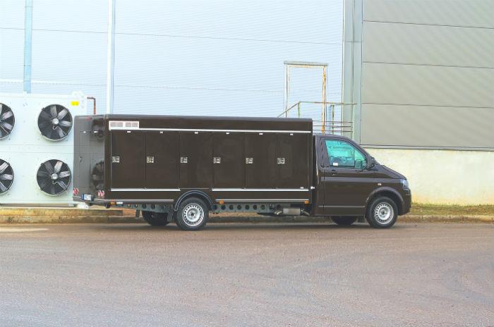 Refrigerated truck body on Volkswagen Transporter