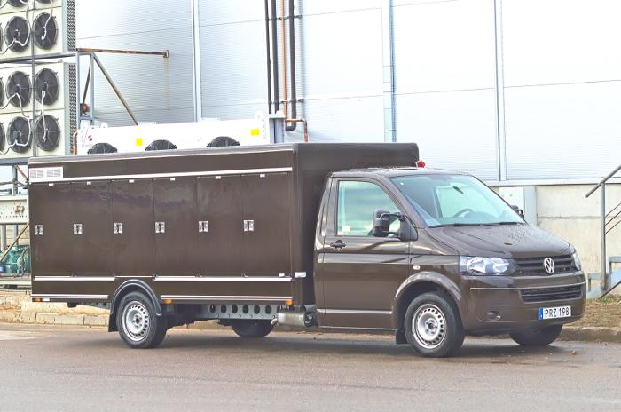Multitemperature body on Volkswagen Transporter
