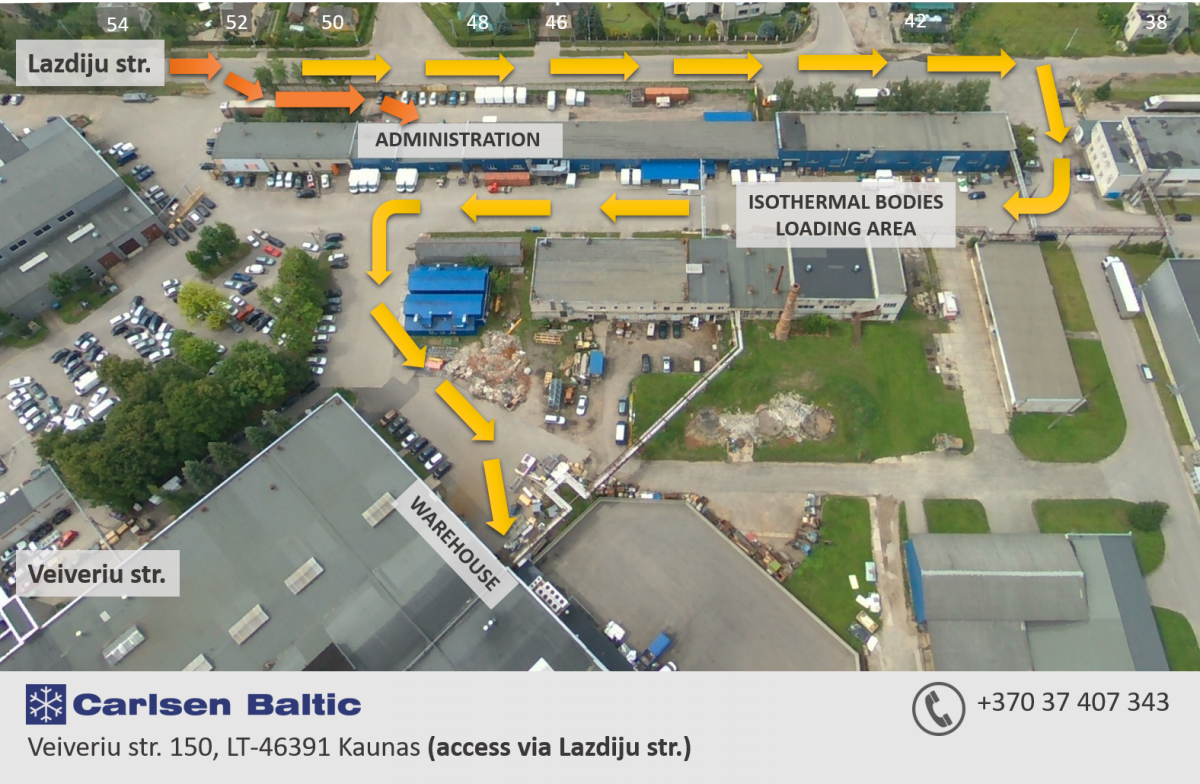 Location of Carlsen Baltic