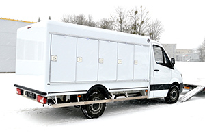 Sprinter refrigerated truck with eutectic cooling
